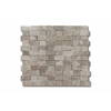 allen + roth Genuine Stone Gray Marble Subway Mosaic Floor Tile (Common: 12-in x 12-in; Actual: 11.7-in x 10.87-in)