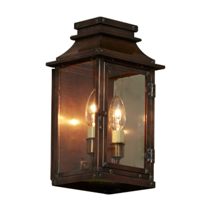 Shop allen + roth New Vineyard 12-in H Antique Copper Outdoor Wall Light at Lowes.com