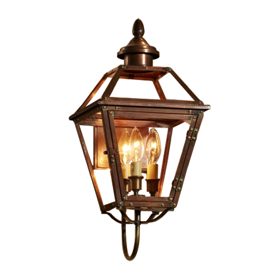 Shop allen + roth New Vineyard 20.125-in H Antique Copper Outdoor Wall Light at Lowes.com