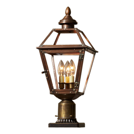 allen + roth New Vineyard 20.125-in H Antique Copper Post Light