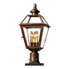 allen + roth New Vineyard 20-1/8-in Antique Copper Post Light
