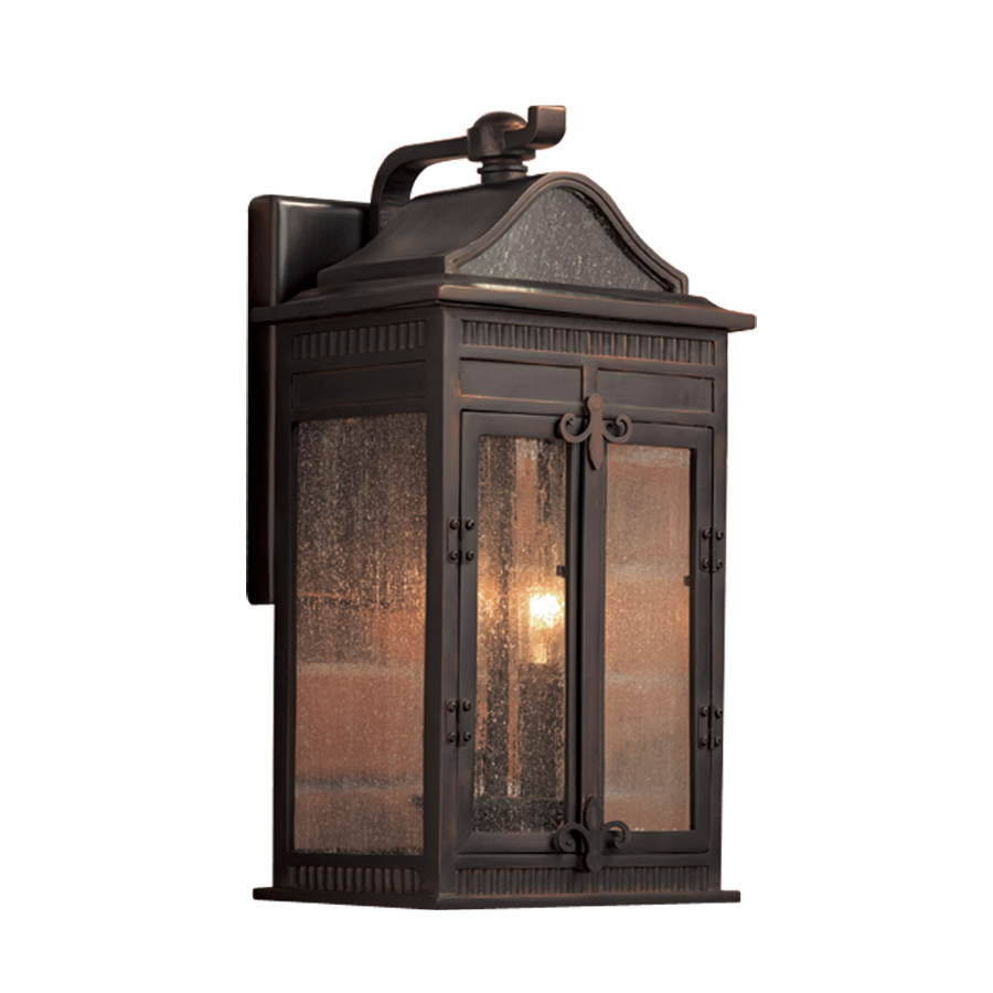 Wall Lantern Portfolio Outdoor : Shop Portfolio Heagan 15.5-in H Oil-Rubbed Bronze Outdoor Wall Light at Lowes.com