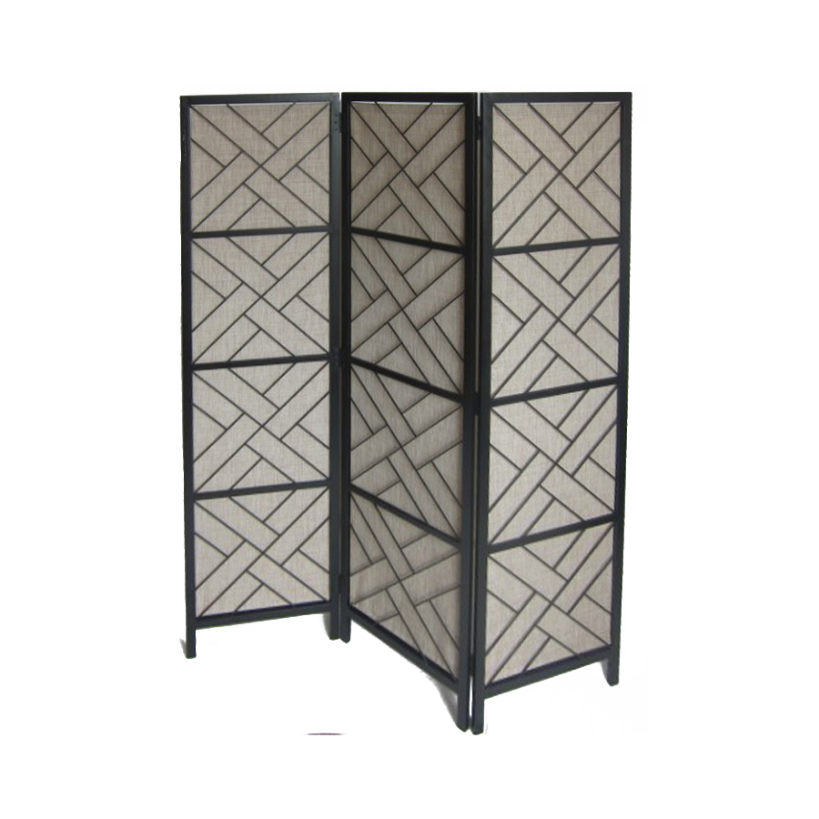 Shop allen roth 72 in x 58 7 in black composite outdoor Patio privacy screen