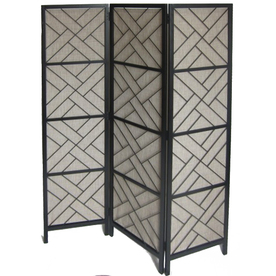 allen + roth 72-in x 58-3/4-in Black Composite Outdoor Privacy Screen