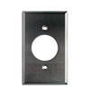 Utilitech 1-Gang Stainless Steel Standard Single Receptacle Metal Wall Plate