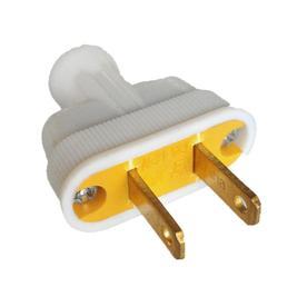 Project Source 15-Amp 125-Volt White 2-Wire Plug