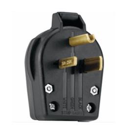 Utilitech 50-Amp 250-Volt Black 3-Wire Plug