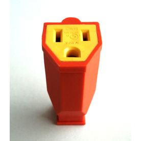 Project Source 15-Amp 125-Volt Orange 3-Wire Grounding Connector