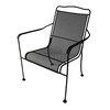 Garden Treasures Davenport Matte Black Steel Dining Chair