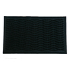 Style Selections 17.7-in x 29.5-in Black Rectangle Door Mat