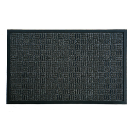 Blue Hawk Charcoal Rectangular Door Mat (Common: 24-in x 36-in; Actual: 23.5-in x 35.5-in)