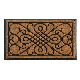 Style Selections Natural/Black Rectangular Door Mat (Common: 24-in x 36-in; Actual: 24-in x 39-in)