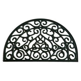 allen + roth Black Semicircle Door Mat (Common: 18-in x 30-in; Actual: 17.9-in x 29.9-in)