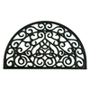allen + roth 30-in x 18-in Black Semicircle Door Mat