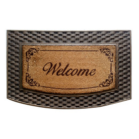 Style Selections Semicircle Door Mat (Common: 22-in x 34-in; Actual: 22-in x 34-in)