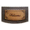 Style Selections Natural/Black Semicircle Door Mat (Common: 22-in x 34-in; Actual: 22-in x 34-in)