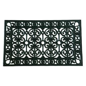 allen + roth Black Rectangular Door Mat (Common: 18-in x 30-in; Actual: 17.8-in x 29.8-in)