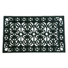 allen + roth 30-in x 18-in Black Rectangular Door Mat