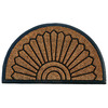 allen + roth Allen+Roth Natural/Black Semicircle Door Mat (Common: 24-in x 36-in; Actual: 23-in x 38-in)