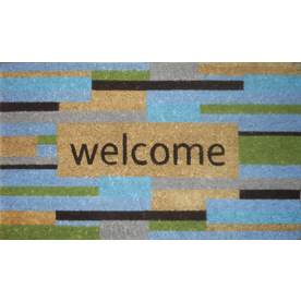 allen + roth Bleached Printed Rectangular Door Mat (Common: 18-in x 30-in; Actual: 17.6-in x 29.4-in)