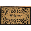 allen + roth 29.4-in x 17.6-in Bleached Printed Rectangle Door Mat