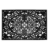 allen + roth Black Rectangular Door Mat (Common: 24-in x 36-in; Actual: 24-in x 36-in)