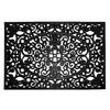 allen + roth Black Rectangular Door Mat (Common: 24-in x 36-in; Actual: 24-in x 36-in)