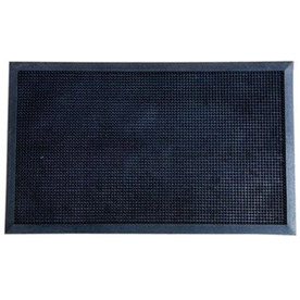 Blue Hawk 47.75-in x 36-in Black Rectangular Door Mat