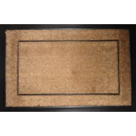 allen + roth Natural/Black Rectangular Door Mat (Common: 24-in x 36-in; Actual: 23.5-in x 35.5-in)