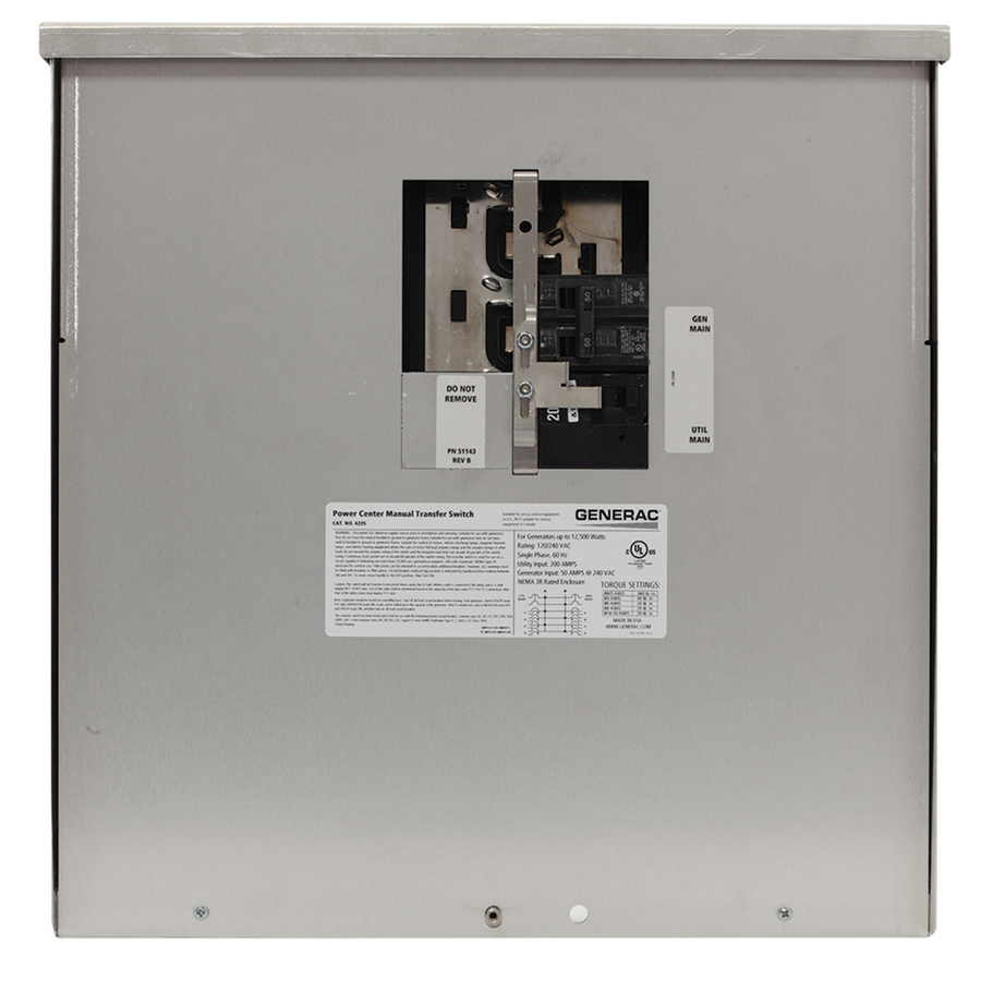 Shop Generac 200-Amp Manual Transfer Switch at Lowes.com