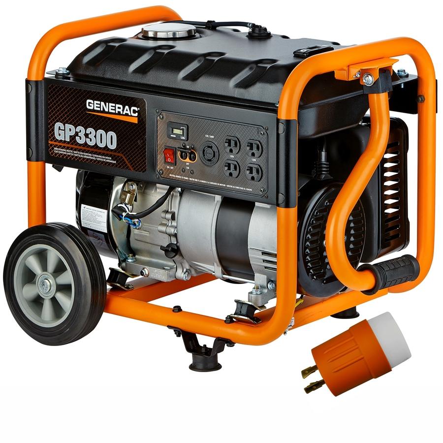 Shop Generac GP 3,300-Running Watts Portable Generator CARB at Lowes ...
