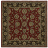 Kaleen Tara2 3-ft 9-in x 3-ft 9-in Square Red Floral Area Rug