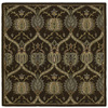 Kaleen Tara2 3-ft 9-in x 3-ft 9-in Square Tan Floral Area Rug