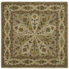 Kaleen Tara2 5-ft 9-in x 5-ft 9-in Square Green Floral Area Rug