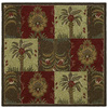 Kaleen Tara2-ft Square Brown Floral Tufted Wool Area Rug (Common: 4-ft x 4-ft; Actual: 3.75-ft x 3.75-ft)