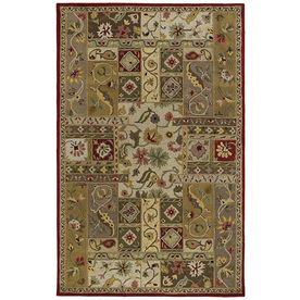 Kaleen Khazana Rectangular Red Floral Tufted Wool Area Rug (Common: 3-ft x 5-ft; Actual: 3-ft x 5-ft)