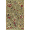 Kaleen Khazana 5-ft x 7-ft 9-in Rectangular Green Floral Area Rug