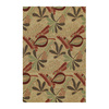 Kaleen Home and Porch 24-in x 36-in Rectangular Beige Floral Accent Rug