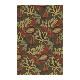 Kaleen Home and Porch Brown Rectangular Indoor and Outdoor Tufted Area Rug (Common: 8 x 8; Actual: 90-in W x 60-in L)