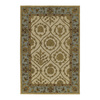 Kaleen Home and Porch 7-ft 9-in x 7-ft 9-in Round Beige Floral Indoor/Outdoor Area Rug
