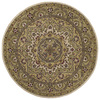 Kaleen Tara Round Cream Floral Tufted Wool Area Rug (Common: 8-ft x 8-ft; Actual: 7.75-ft x 7.75-ft)
