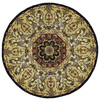 Kaleen Tara 5-ft 9-in x 5-ft 9-in Round Black Floral Area Rug