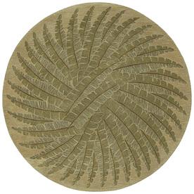 Kaleen Tara Yellow Round Indoor Tufted Area Rug (Common: 8 x 8; Actual: 93-in W x 93-in L)