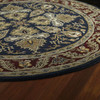 Kaleen Tara Blue Round Indoor Tufted Area Rug (Common: 8 x 8; Actual: 93-in W x 93-in L)