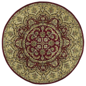 Kaleen Tara Red Round Indoor Tufted Area Rug (Common: 4 x 4; Actual: 45-in W x 45-in L)