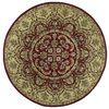 Kaleen Tara 3-ft 9-in x 3-ft 9-in Round Red Floral Area Rug