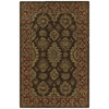 Kaleen Khazana 8-ft x 11-ft Rectangular Brown Floral Area Rug