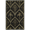 Kaleen Khazana 8-ft x 11-ft Rectangular Black Floral Area Rug