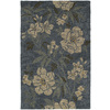 Kaleen Khazana 5-ft x 7-ft 9-in Rectangular Blue Floral Area Rug