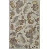 Kaleen Khazana 7-ft 6-in x 9-ft Rectangular Gray Floral  Area Rug